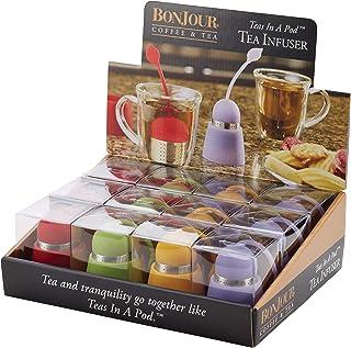 BonJour 51181 Infusor de té de silicona, colores surtidos, 1 unidad