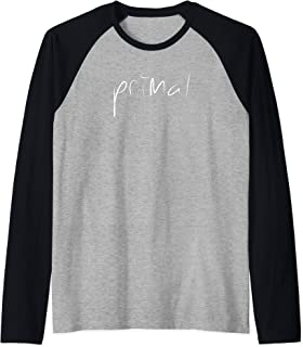 Primal T Shirt Tee Womens Mens Gift Raglan Baseball Tee