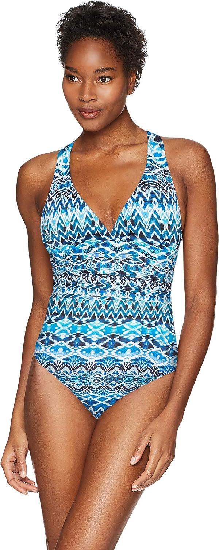 Selling La Blanca Women's Multi Purchase Strap Piece One Cross Back Swimsuit