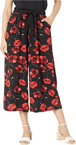 Black/Red Poppy Floral