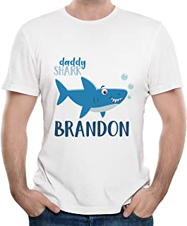 Customized Shark Family | Baby Personalized Name | Men Daddy T-Shirt