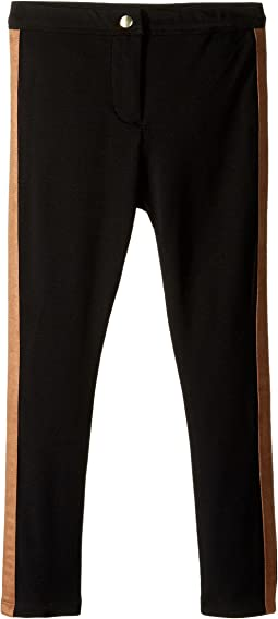 Ponti Leggings with Faux Suede Side Panels (Toddler/Little Kids)