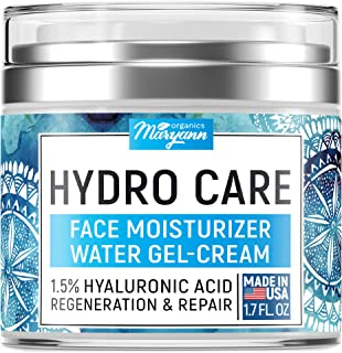 Water Gel Cream - Water Based Face Moisturizer Collagen Cream - Made in USA - Hyaluronic Acid Face Hydrating Moisturizer -...