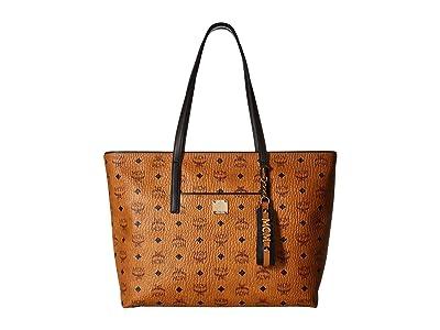 MCM Anya Shopper Shopper Medium (Cognac) Handbags