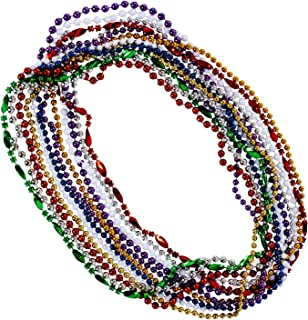 Funny Party Hats Mardi Gras Beads - Costume Jewelry - Mardi Gras Costume - Bulk Beaded Necklaces - 12 Pc Set