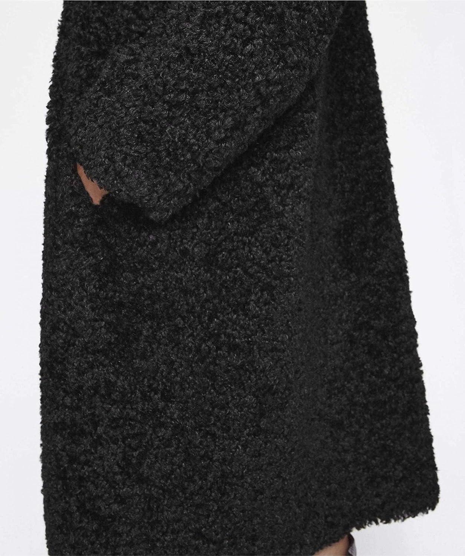 Stand Studio Women's Maxine Faux Fur Coat Black