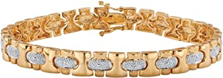 gold nugget bracelet with diamonds