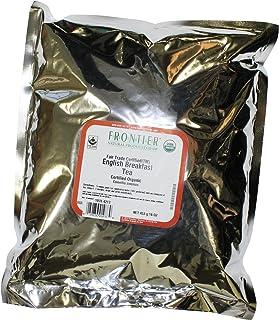 Frontier Herb Tea - Organic - Fair Trade Certified - Black - English Breakfast - Bulk - 1 lb - 95%+ Organic -