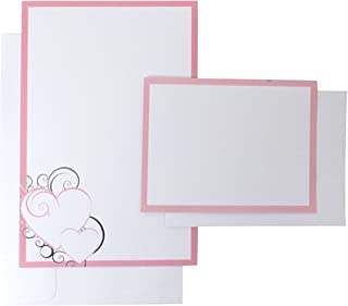 WILTON 50-Count Invitation Kit - Pink Bubble Heart 1008-1618