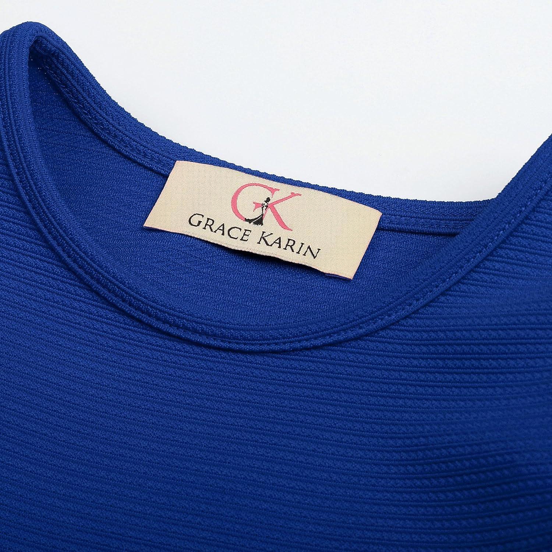 GRACE KARIN Retro Festliche Kleider 50er Kleid Partykleid 482