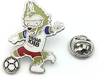 FIFA World Cup Russia 2018 Mascot Pin Zabivaka the wolf