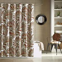 Ink+Ivy Mira 200TC Cotton Printed Shower Curtain 72x72 Spice, 72 x 72,