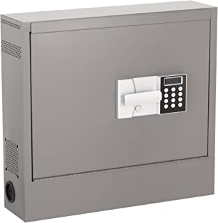 Norwood Commercial Furniture NOR-HNA1000-SO Wall Mounted Laptop Safe with LCD Lock, Gray