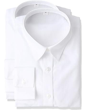 cdfd4f5428e478 [セシール] シャツ 形態安定レギュラーカラーシャツ(長袖・2枚組セット