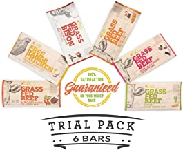 DNX Grass Fed Protein Bars | 6 Pack | Keto Friendly Meat Snack With a Truly Epic Taste | Whole30 Approved, Gluten Free, Organic Ingredients, No Preservatives (Variety, 6 - Pack)