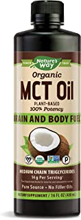 Nature's Way Organic MCT Oil From Coconut, Non-GMO, Gluten-free, 14 g MCTs per..