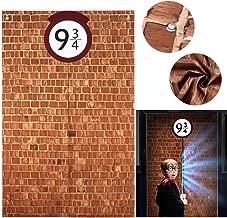 G.C 9 And 3/4 Magical Platform King's Cross Station Brick Wall Backdrop Festive Decor Secret Passage To The Magic School 78.7