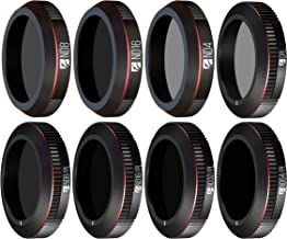 Freewell All Day – 4K Series – 8Pack ND4, ND8, ND16, Cpl, ND8/PL, ND16/PL, ND32/PL, ND64/PL Camera Lens Filters Made for DJI Mavic 2 Zoom/Mavic 2 Enterprise Drone