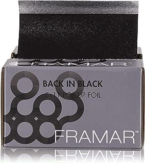 Framar Back In Black Pop Up Hair Foil, Aluminum Foil Sheets, Hair Foils For Highlighting - 500 Foil Sheets