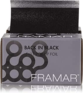 Framar Back In Black Pop Up Hair Foil, Aluminum Foil Sheets, Hair Foils For Highlighting - 500 Foil Sheets