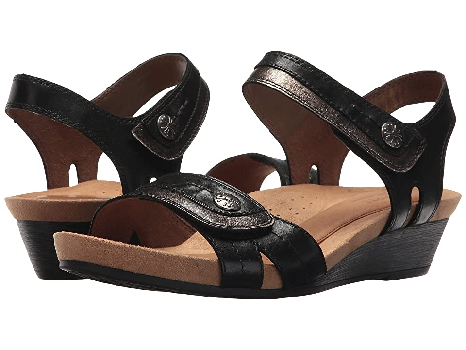 Rockport Cobb Hill Collection Cobb Hill Hollywood Two-Piece Sandal (Black Leather) Women