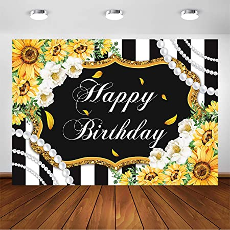 Colorful Stripes with Sunflowers and Wheat Farm House Themed Abstract Image Background for Baby Shower Birthday Wedding Bridal Shower Party Decoration Photo Studio 6x8 FT Photography Backdrop