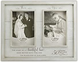 """Abbey Gift Then & Now 50Th Anniversary Wood Frame, 12"""" x 9.5"""", Multicolor"""