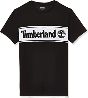Timberland Men's SS Cut & Sew Linear Logo T-Shirt