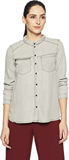 VERO MODA Women's Plain Regular Fit Lyocell Shirt