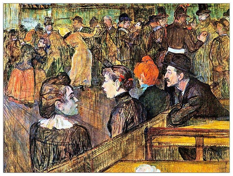 ArtPlaza TW92594 Toulouse-Lautrec - at The Moulin de la Gallette Decorative Panel 35.5x27.5 Inch Multicolored