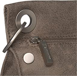 Pewter Leather/Brushed Silver Hardware