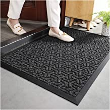 Doormat Durable Anti-Slip Rubber Back Entrance Door Mat Shoe Mud Scraper Outdoor Low Doormat,Easy to Clean (Color : C, Siz...