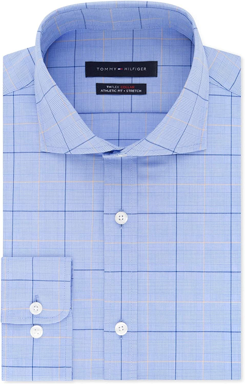 Tommy Hilfiger Mens Thflex Collar Button Up Dress Shirt