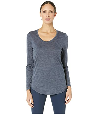 Icebreaker Solace Merino Long Sleeve Scoop (Midnight Navy Heather) Women