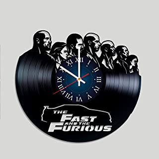 Fast and Furious Art Vinyl Wall Clock Gift Room Modern Home Record Vintage Decoration Girt for Him and Her