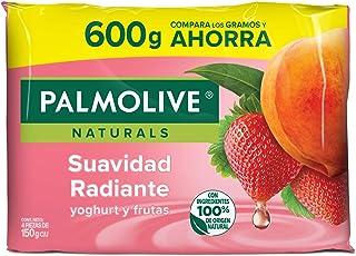 Jabón de Tocador Palmolive Naturals Yoghurt y Frutas en Barra, 150 g, 4 Piezas