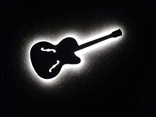 chitarra luminosa da parete