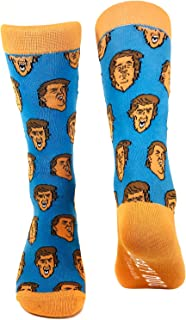 Trump 2020 Face Socks Funny President Political Maga Gift Novelty Crazy Cool (Royal) - Mens (7-12)