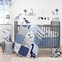 Bedtime Originals Roar Dinosaur 3 Piece Crib Bedding Set, Blue/Gray (Twо Расk)