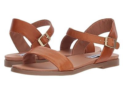 Steve Madden Dina Sandal (Tan Leather) Women