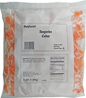 Party Sweets Tangerine Fruit Candy Cubes, 3 Pound, Appx. 250 pieces from Hospitality Mints