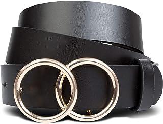 Black Belts for Women, Womens Belts for Jeans, Affordable Designer Belt - S,M,L