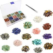 1700 Pcs Chip Gemstone Beads Healing Crystals Crushed Irregular Shaped Beads with Box for Jewelry Making (15-Lattice)