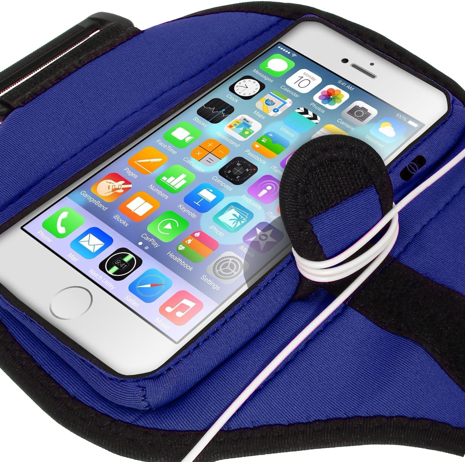 iGadgitz Water Resistant Pink Sports Jogging Gym Armband for Apple iPhone 6 /& 6S 4.7