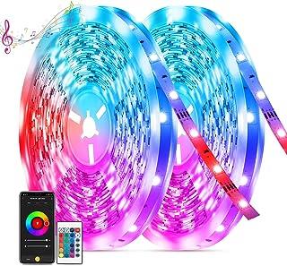 Ruban LED 20M, TASMOR Bande LED 600 LEDs, Led RGB 5050 Bluetooth avec Télécommande, Synchroniser avec Musique, Contrôlé pa...