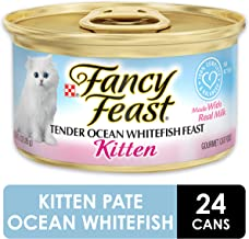 Fancy Feast Wet Cat Food, Kitten, Tender Ocean Whitefish Feast, 3-Ounce Can - Pack of 24