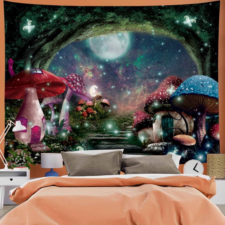 5 popular Max 44% OFF Psychedelic Mushroom Castle Tapestry Galaxy Moon Stars
