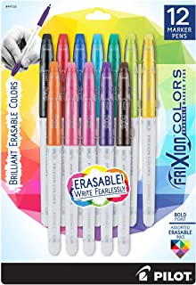PILOT FriXion Colors Erasable Marker Pens, Bold Point, Assorted Color Inks, 12-Pack (44155)