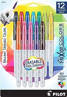 PILOT FriXion Colors Erasable Marker Pens, Bold Point, Assorted Color Inks, Dozen Box (44155)