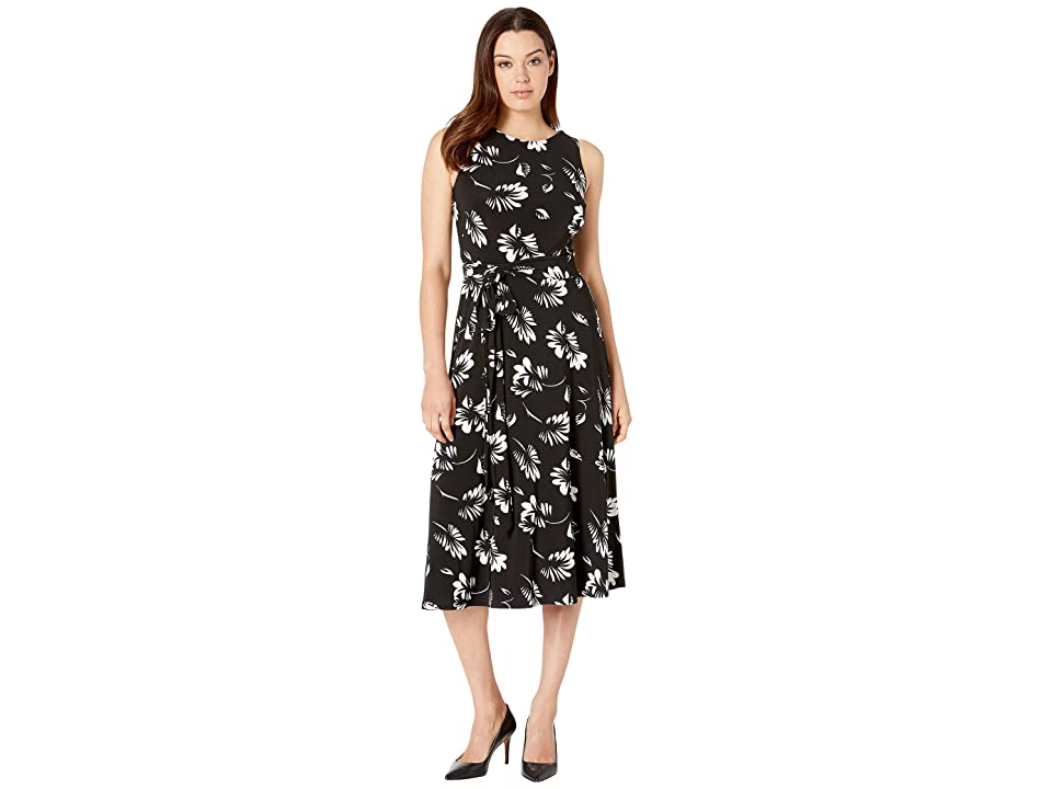 LAUREN Ralph Lauren Felia Dress (Black/Colonial Cream) Women